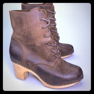 Jeffrey Campbell Woodies Lace Up Clog Boots Sz 7